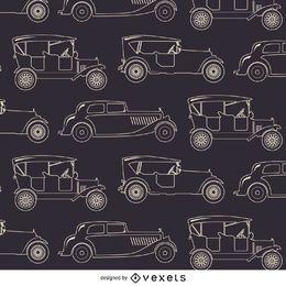 Carro do vintage padrão sem emenda