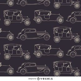Modelo inconsútil de coches de época