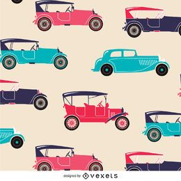 Colorful retro car texture