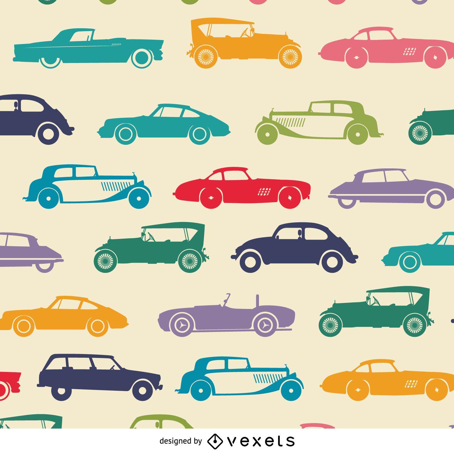 Papel pintado enlosable de coches antiguos