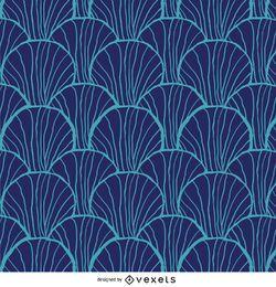 Retro Muster in Blau