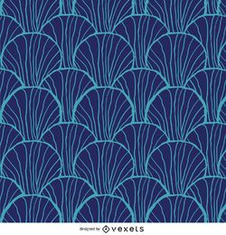 Retro pattern in blue