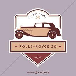 Emblema do carro clássico