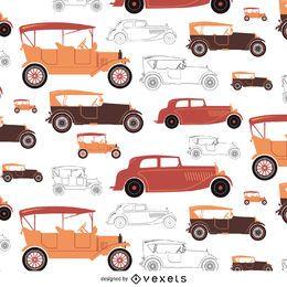 Carro antigo tileable em tons quentes
