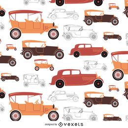 Vintage car tileable in warm tones