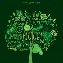 Vetor da árvore do Dia da Terra