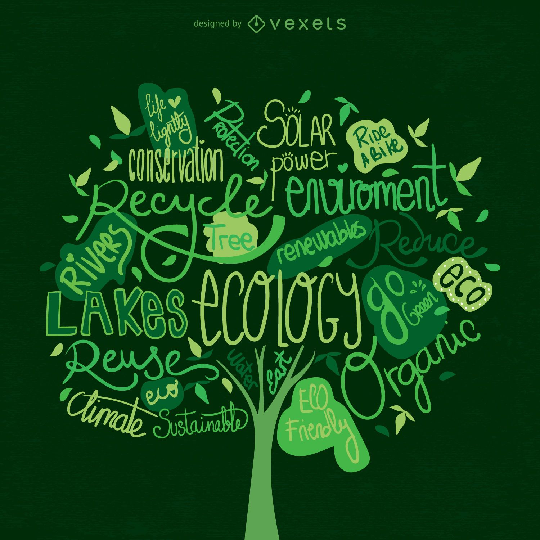 Earth Day Baum Vektor