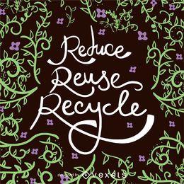 Reduzir Reutilizar Recyle poster do Dia da Terra