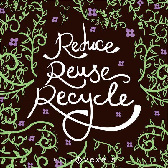 Reduza o cartaz Recyle Earth Day