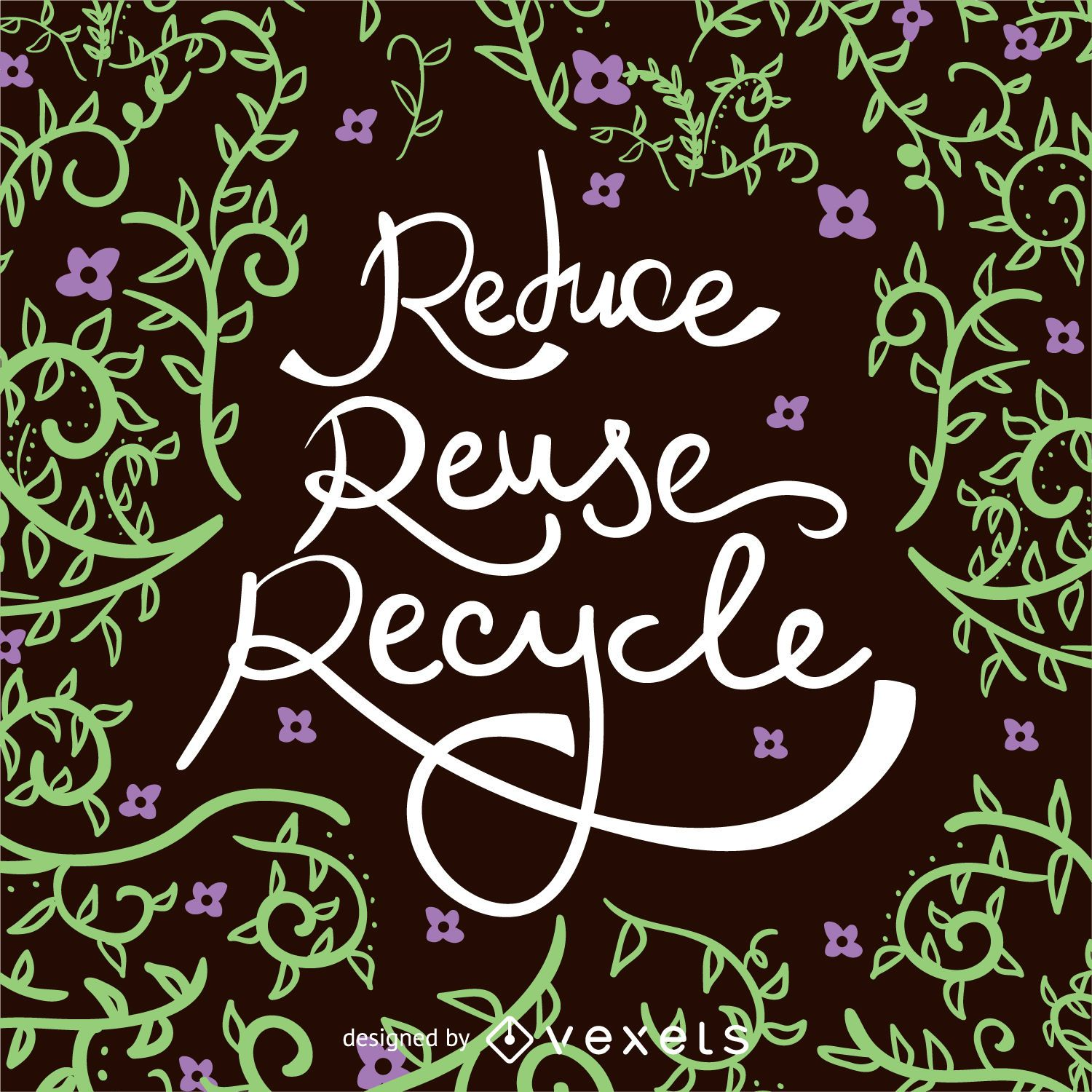 Reduce Reuse Recyle Earth Day poster