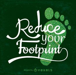 Reduza o design do seu Footprint-Earth Day