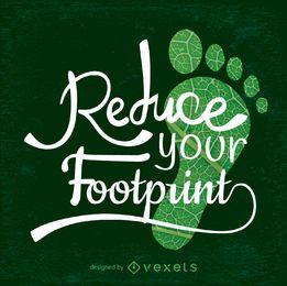 Reduzieren Sie Ihren Footprint-Earth Day-Entwurf