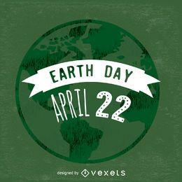 Earth Day Abzeichen