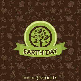 Emblema de árvore do dia da terra