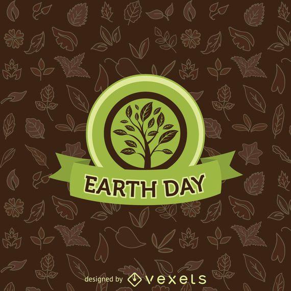 Tag der Erde Baum Emblem