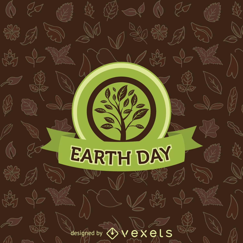 Earth Day tree emblem