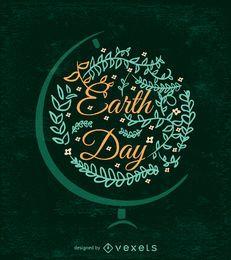 Verzierter Tag der Erde-Design mit Kugelhalterung