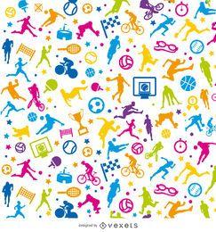 Tileable esporte colorido papel de parede