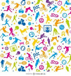 Tileable sport colorful wallpaper