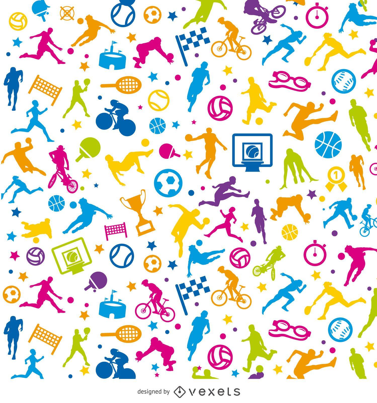 Papel pintado colorido deportivo enlosables