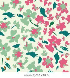 Resumen de fondo floral