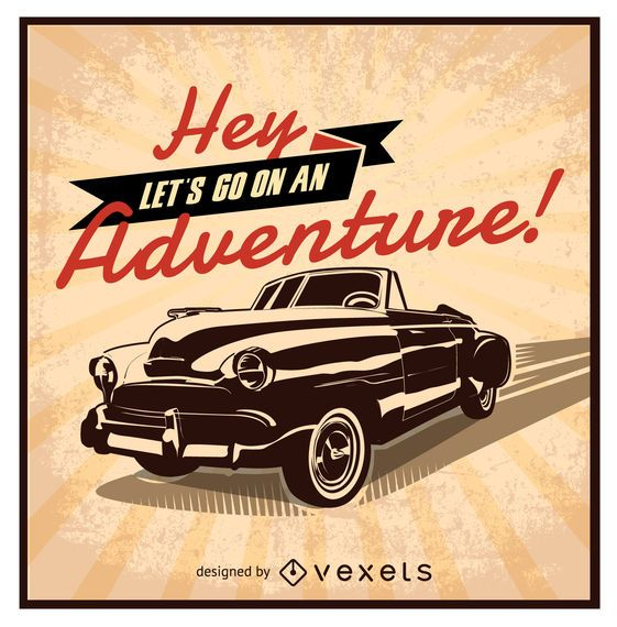 Let's-go-on-an-adventure retro car design