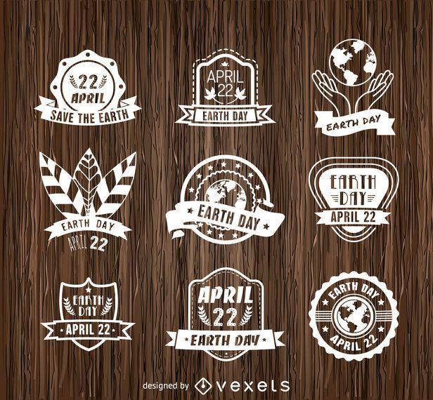 9 emblemas do Dia da Terra