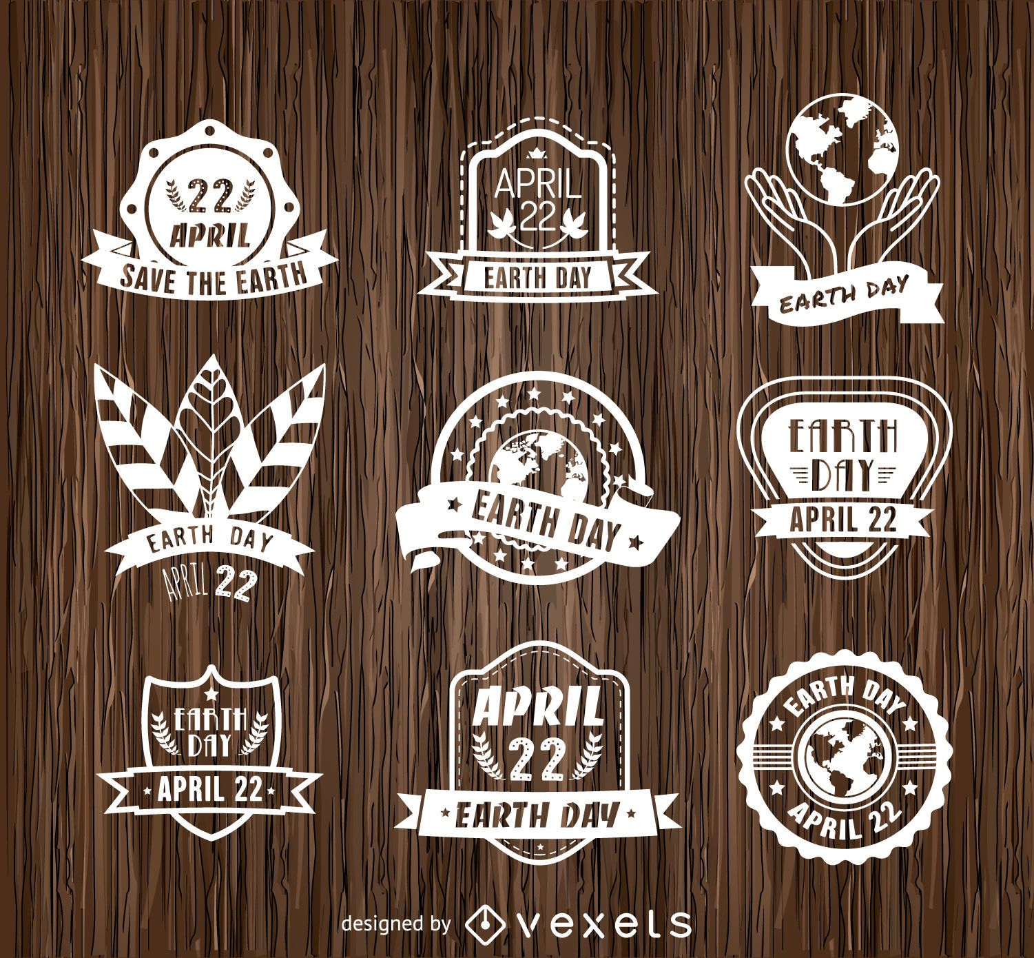 9 Earth Day emblems