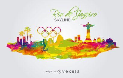 Olympiade 2016 - Rio de Janeiro Skyline