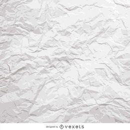 papel amarrotado branco