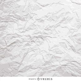 Weißes zerknittertes Papier