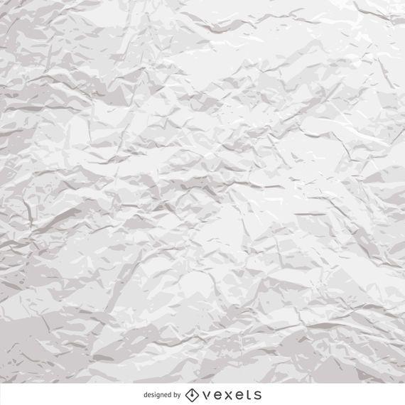 Papel amassado branco - Baixar Vector