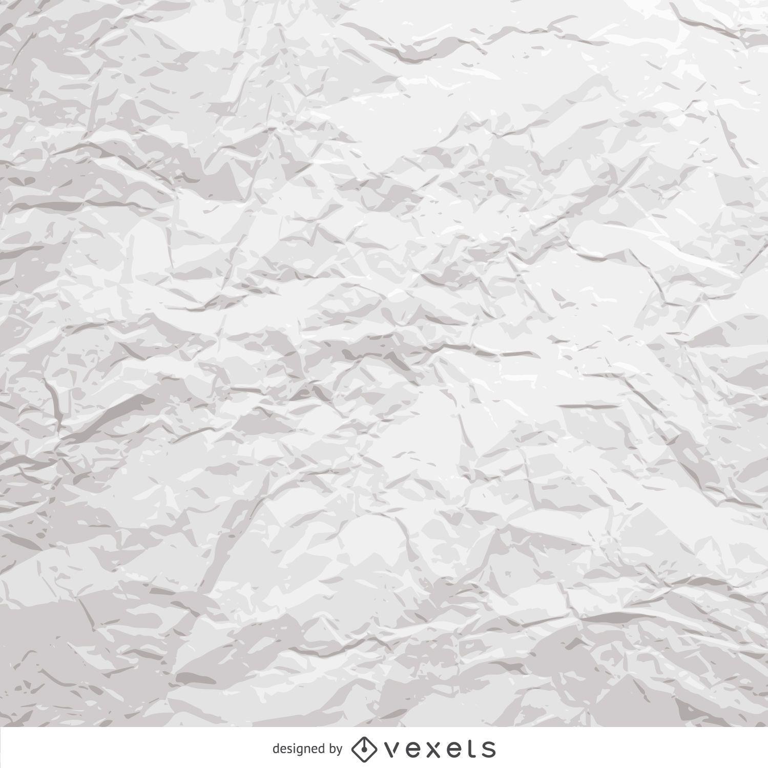 Papel arrugado blanco