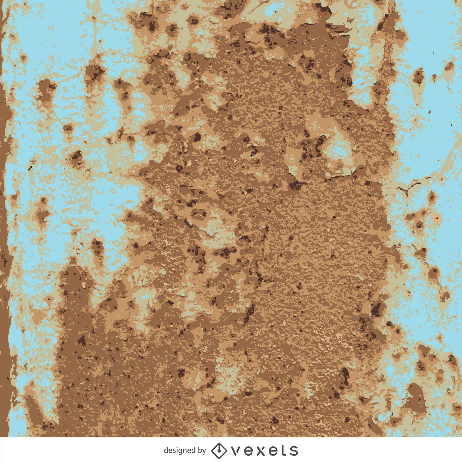 Textura oxidada de metal