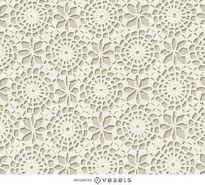 Textura de crochet blanco