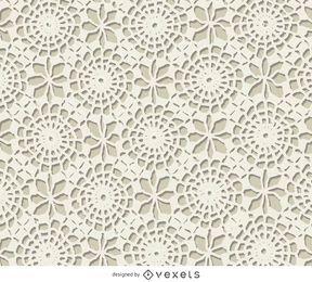 Weiße gehäkelte Textur