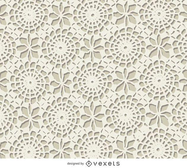 Textura de crochê branco