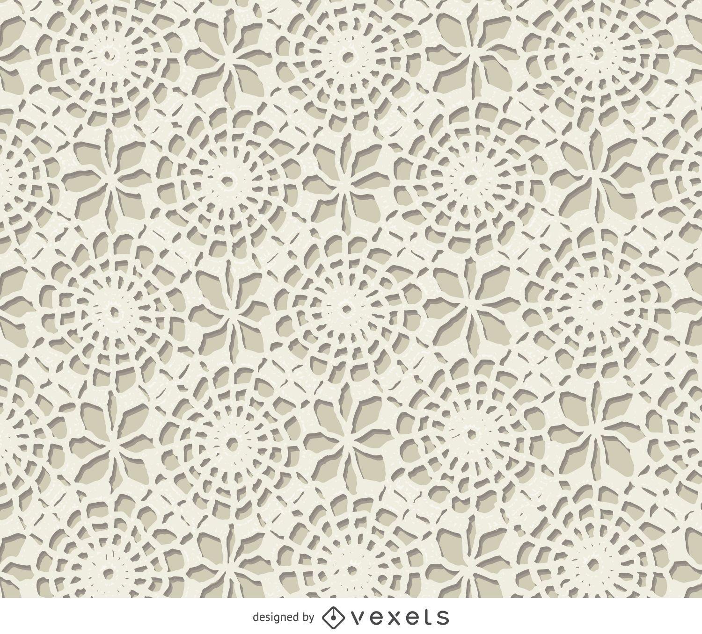 White crochet texture