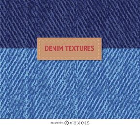 2 blue denim textures