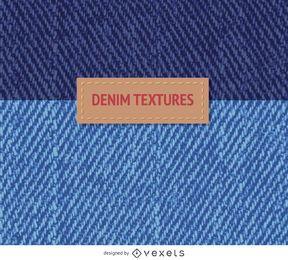 2 texturas de mezclilla azul