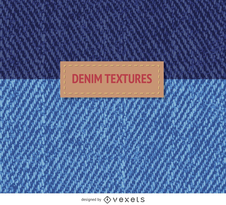 2 blue denim textures