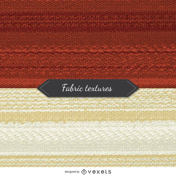 2 fabric textures in red and beige tones