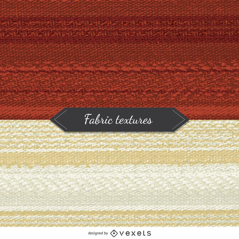2 texturas de tela en tonos rojo y beige