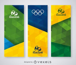 Conjunto de banners Rio 2016