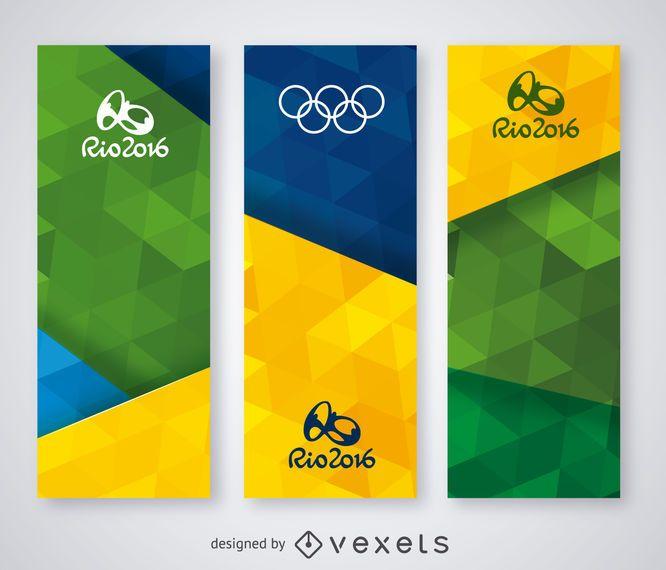 Conjunto de banners do Rio 2016