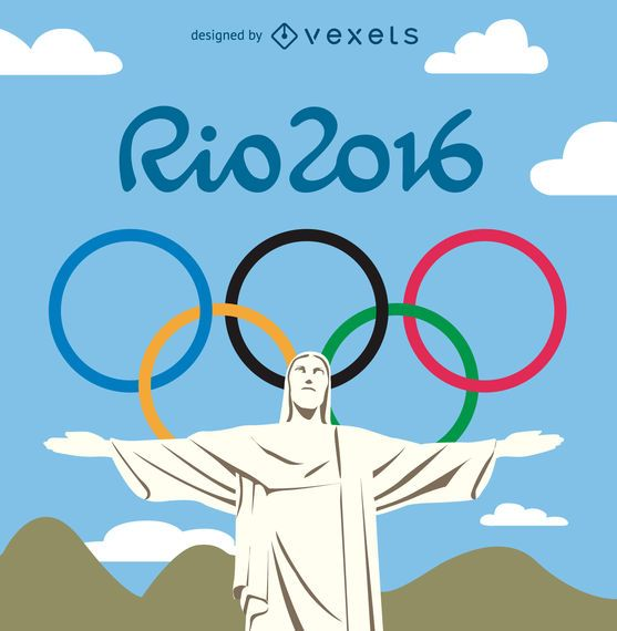 Rio 2016 olympic games - Redeemer Christ - Vector download