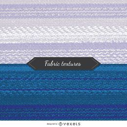 2 fabric textures in blue and white tones