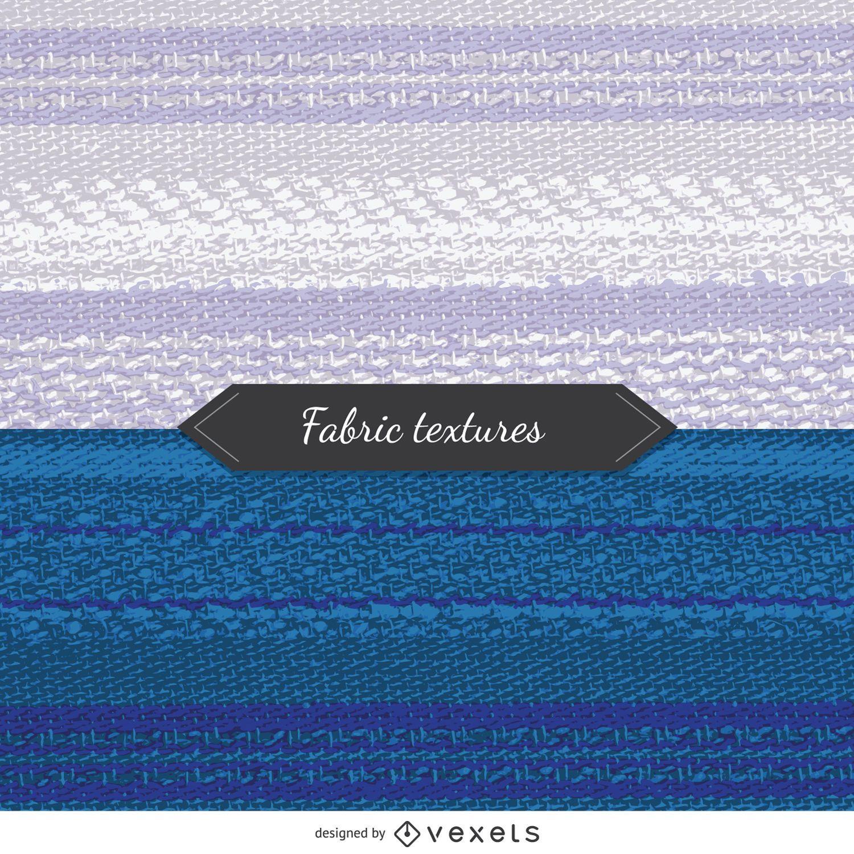 2 texturas de tela en tonos azules y blancos