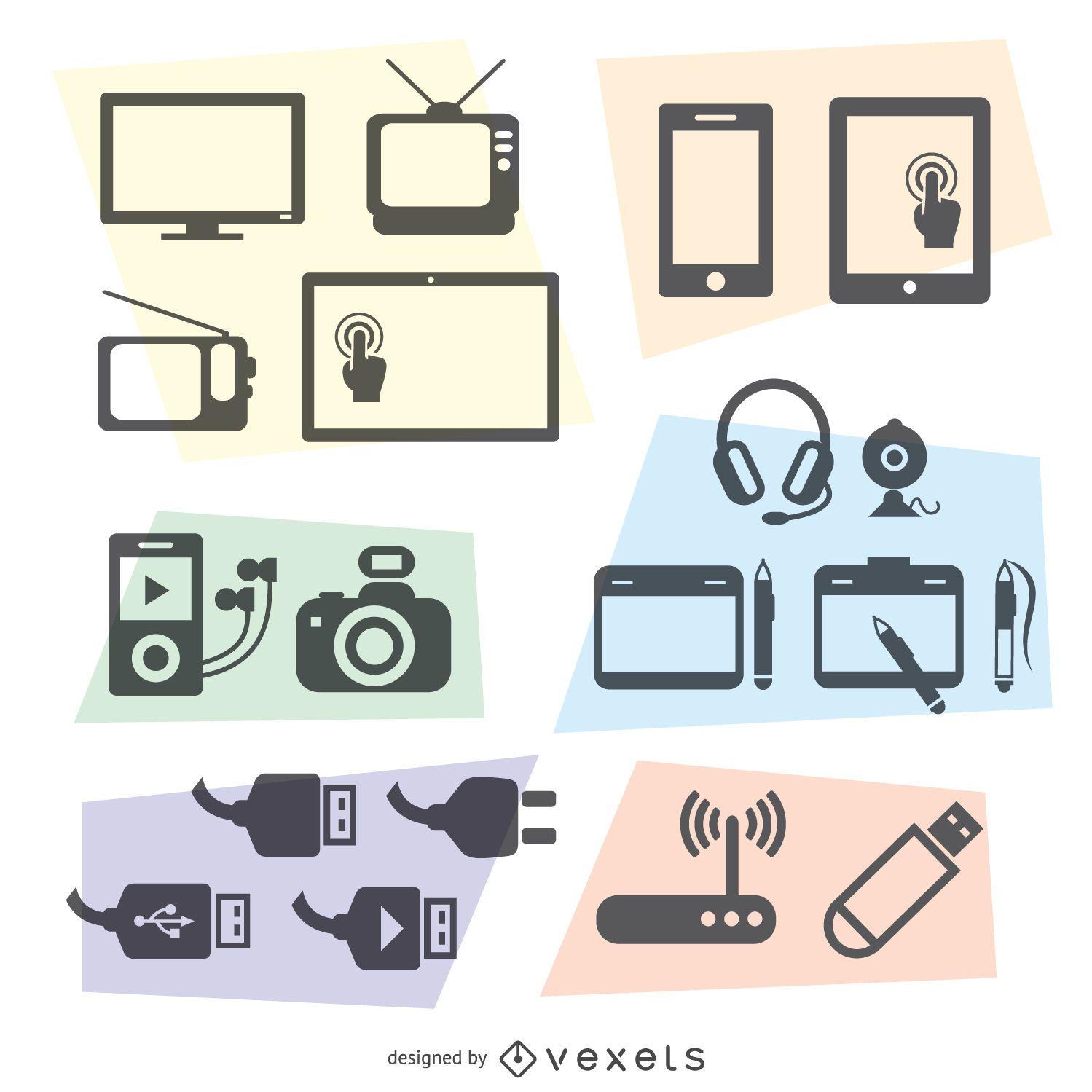 Conjunto de vetores de tecnologia