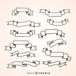 Set de cintas dibujadas a mano